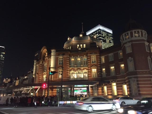 夜景 東京駅