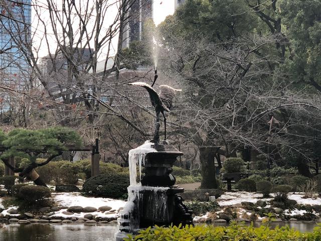日比谷公園の鶴