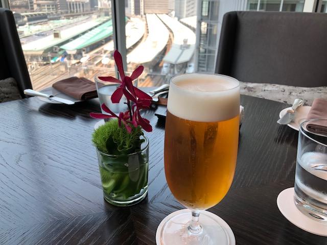 ビールでランチ